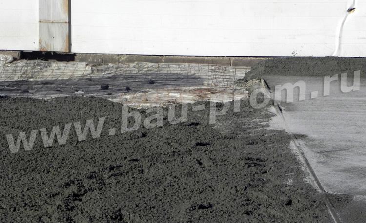 бетонирование открытой площадки