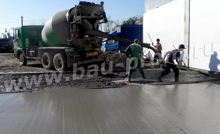 доставка бетона миксером и первичная планировка