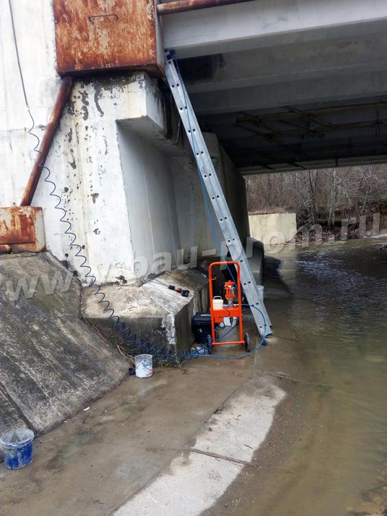 ремонт опор моста