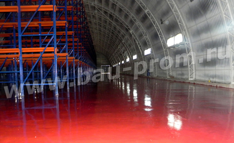 полимерное покрытие полов в складских помещениях