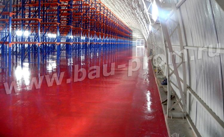 промышленные полы красного цвета