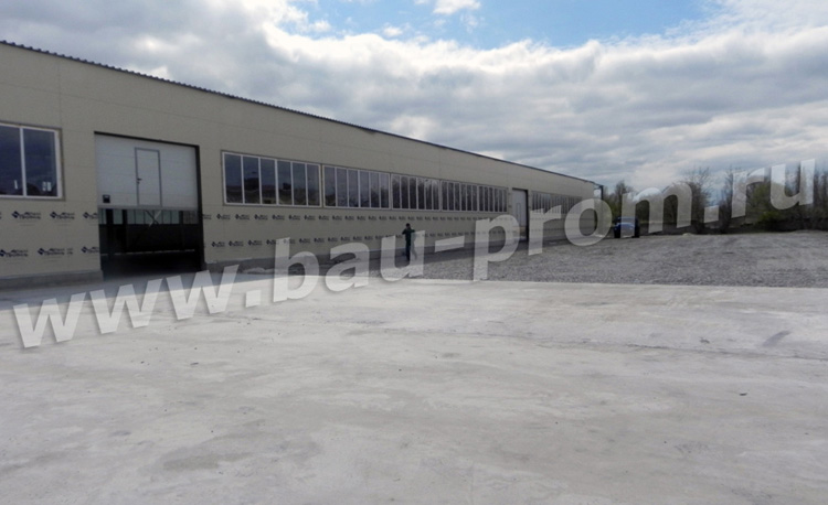 бетонная площадка для разворота большегрузных автомобилей
