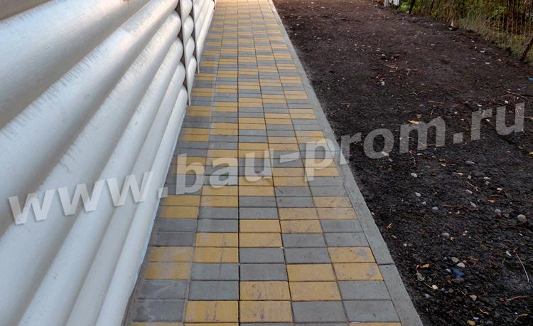 устройство покрытия из тротуарной плитки