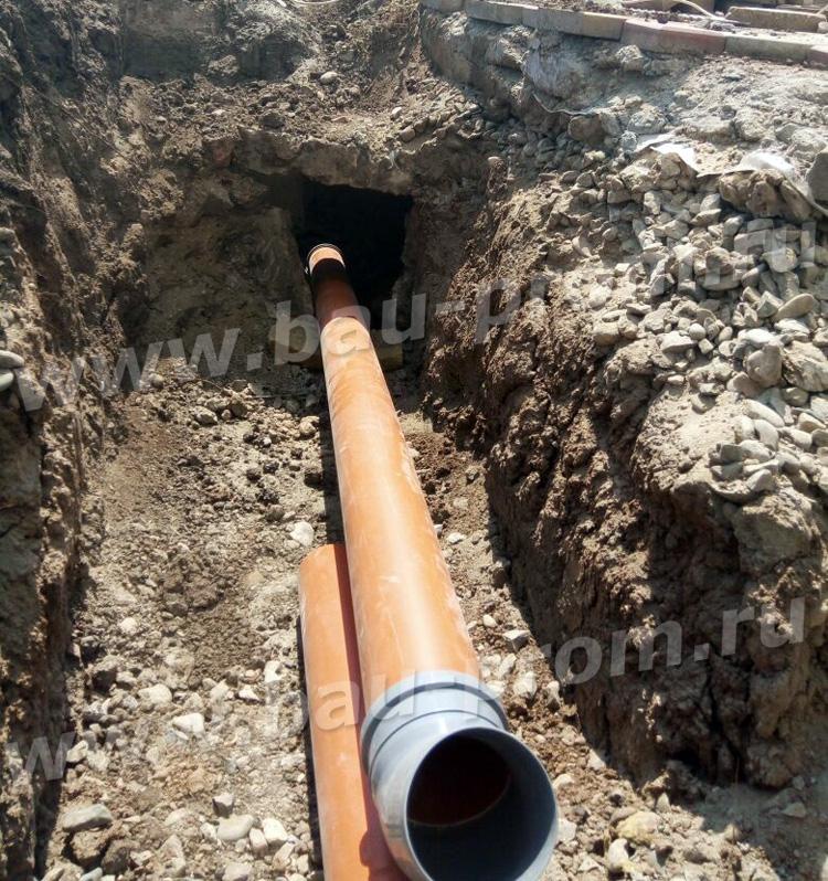 труба НПВХ для наружной канализации