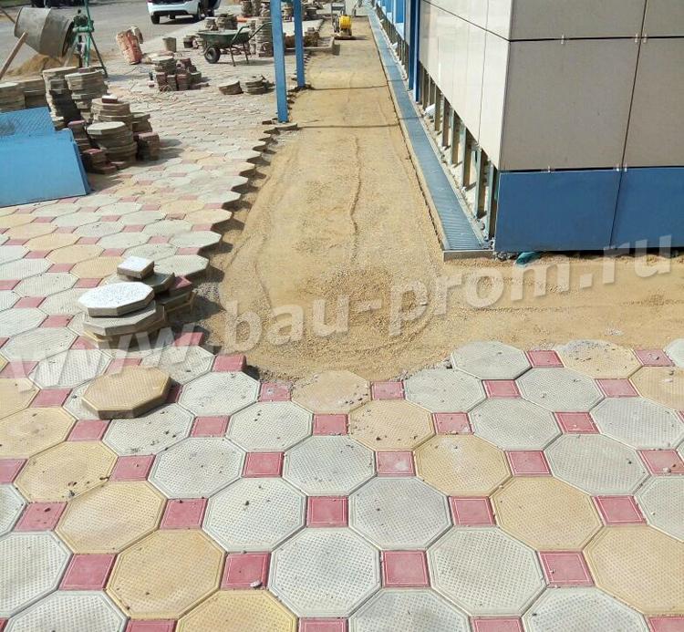 восстановление покрытия из тротуарной плитки