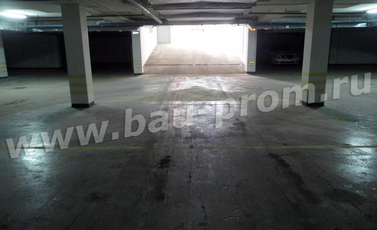 полимерное окрасочное покрытие в подземном паркинге