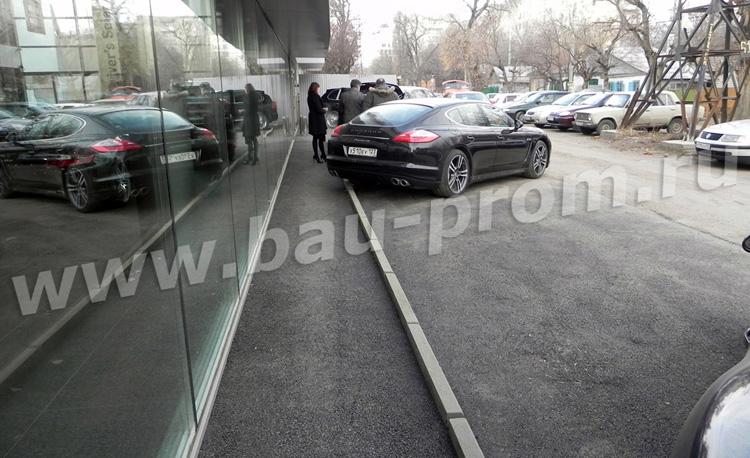 тротуар и парковка