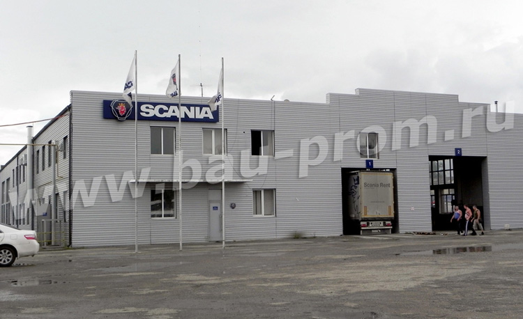 промышленные полы на станции техобслуживания автомобилей SCANIA