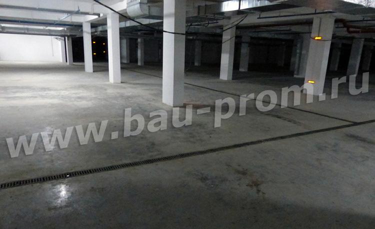 промышленные полы в подземном паркинге