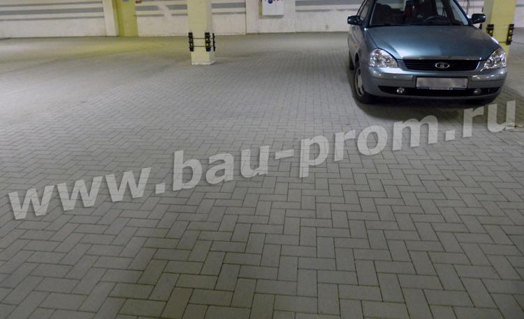 тротуарная плитка на территории паркинга
