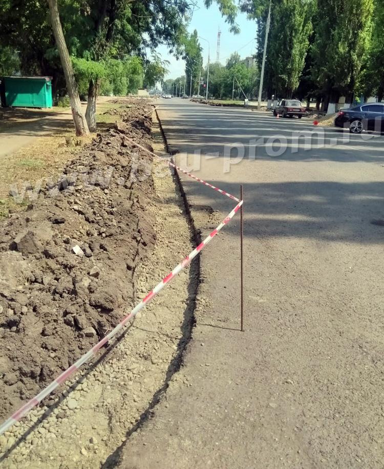 подготовка к установке дорожных бордюров