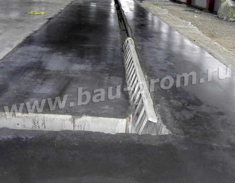 бетонные полы с технологическими углублениями