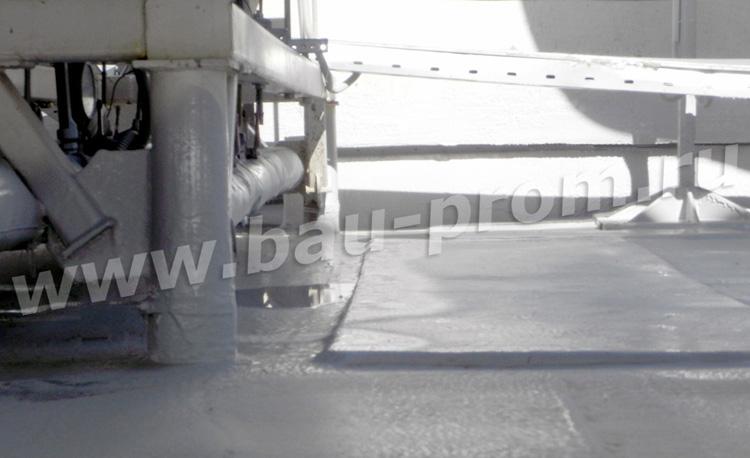 гидроизоляция полимочевиной поверхности со сложным рельефом